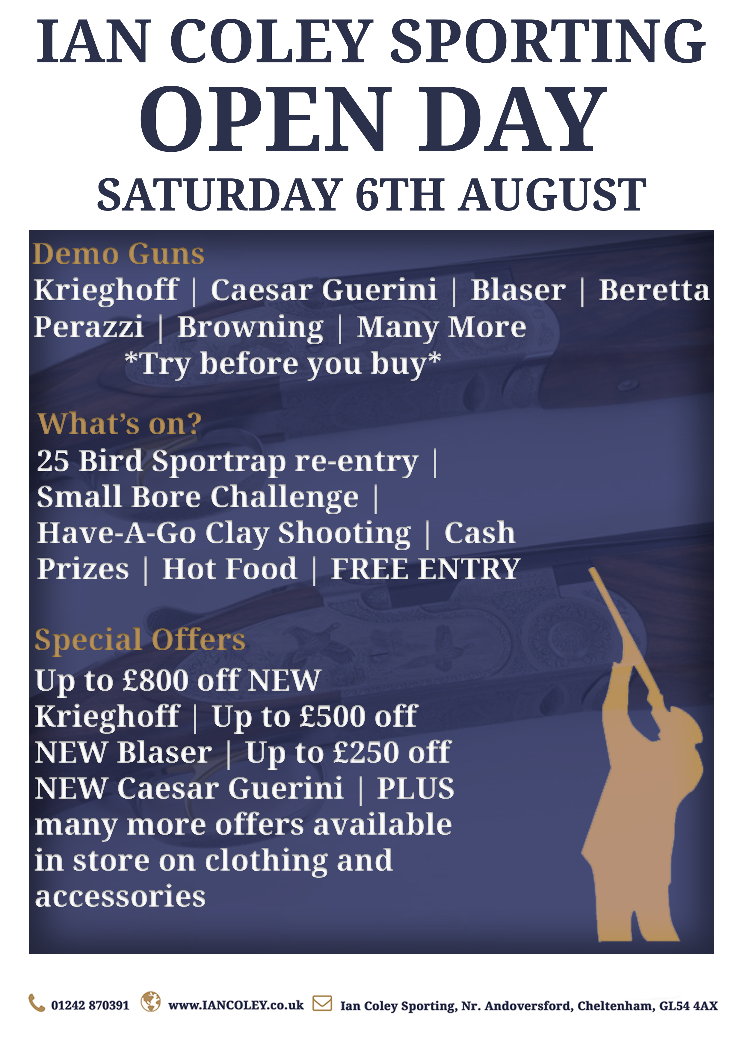 OPEN DAY – SATURDAY 6TH AUGUST