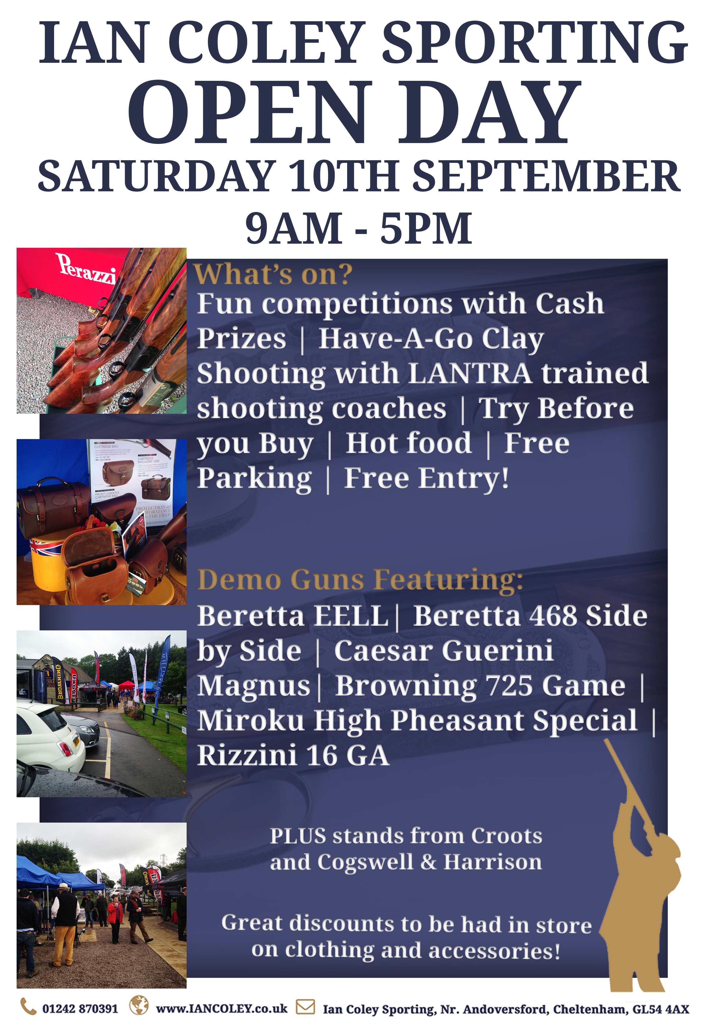 OPEN DAY – SATURDAY 10TH SEPTEMBER