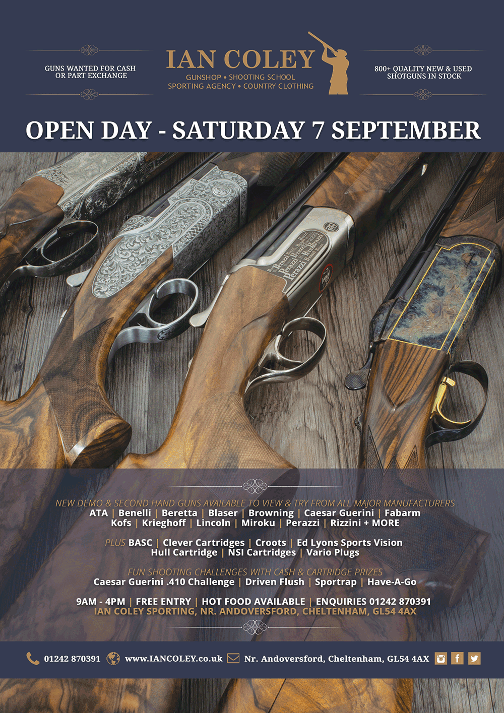 OPEN DAY – SATURDAY 7 SEPTEMBER
