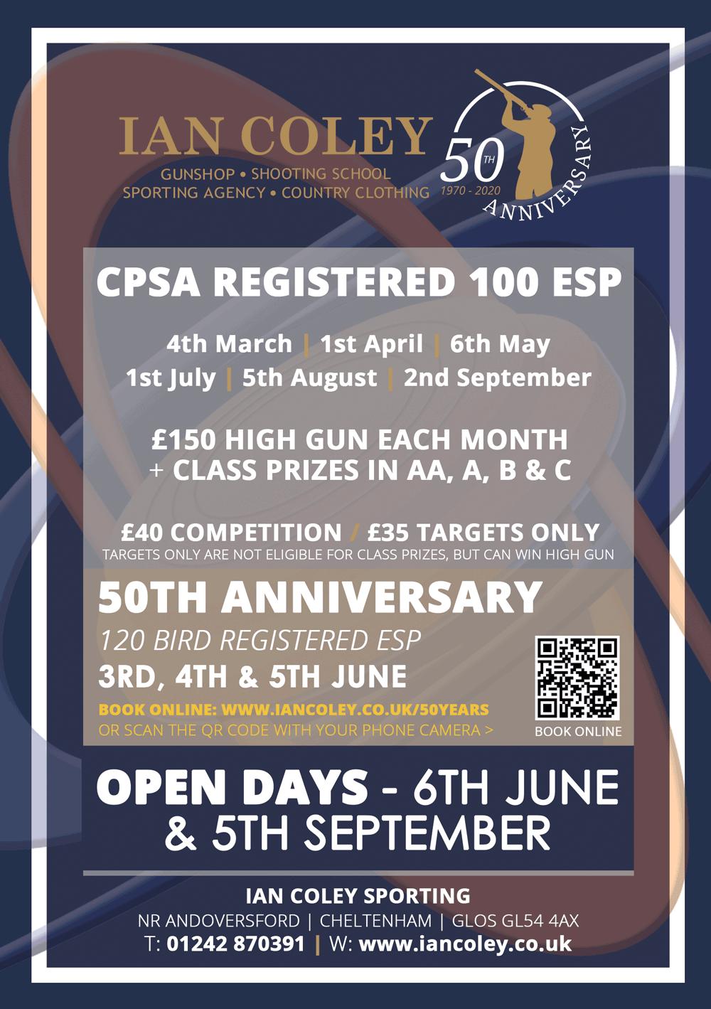 2020 CPSA REGISTERED 100 ESP EVENTS
